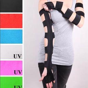 Trixy Xchange Long Black Gothic Cut Out Gloves